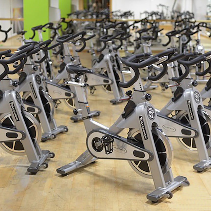 Spin bike classes at Revive Fitness